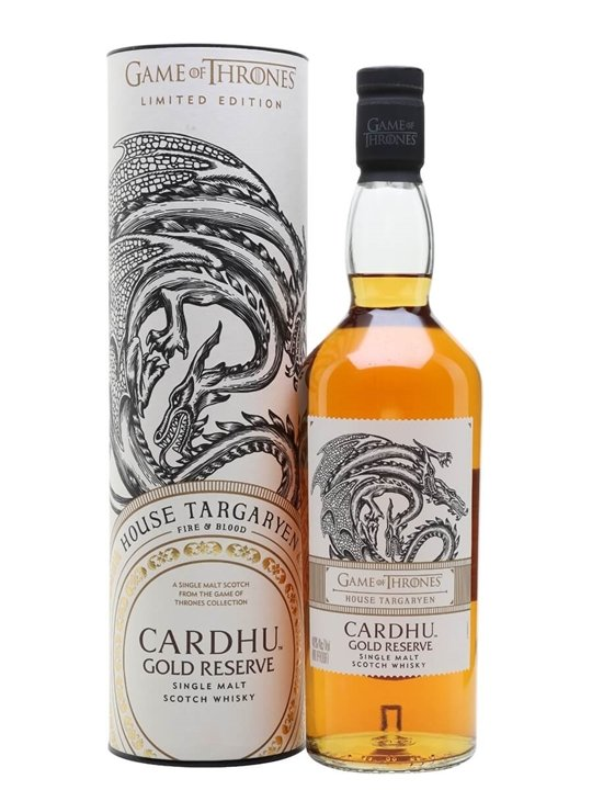 Cardhu Gold Reserve / Game of Thrones House Targaryen Speyside Whisky