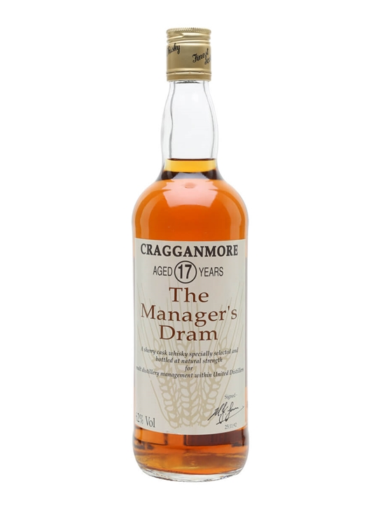 Cragganmore 17 Year Old / Managers Dram Speyside Whisky