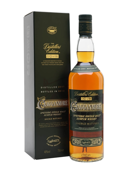 Cragganmore 2007 / Bot.2019 / Distillers Edition Speyside Whisky