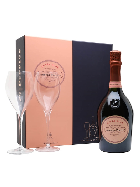 Laurent-Perrier Rose Champagne / 2 Glass Gift Pack