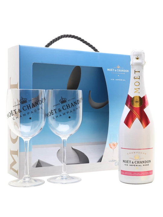 Moet & Chandon Rose Ice Champagne / Glass Pack