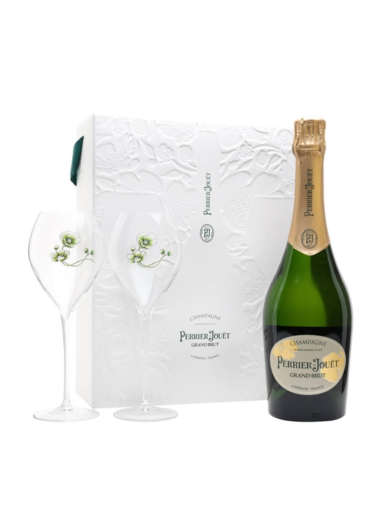 Perrier-Jouet Grand Brut Champagne / Glass Set