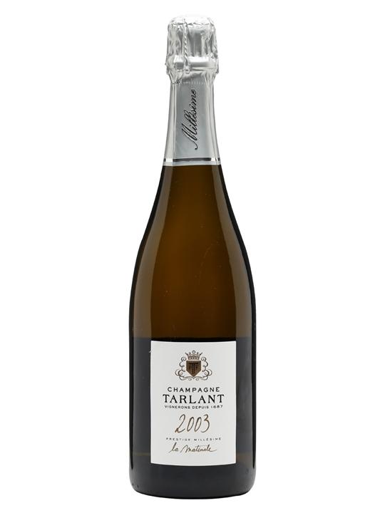 Tarlant 2003 La Matinale Brut Nature Champagne