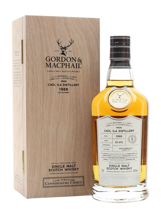 Caol Ila 1988 / 31 Year Old / Sherry Cask / Gordon & MacPhail Islay Whisky
