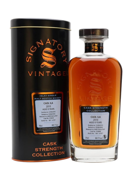 Caol Ila 2010 / 9 Year Old / Sherry Cask / Signatory Islay Whisky
