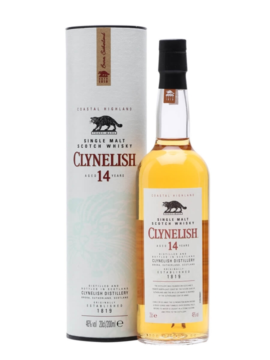 Clynelish 14 Year Old / Small Bottle Highland Whisky