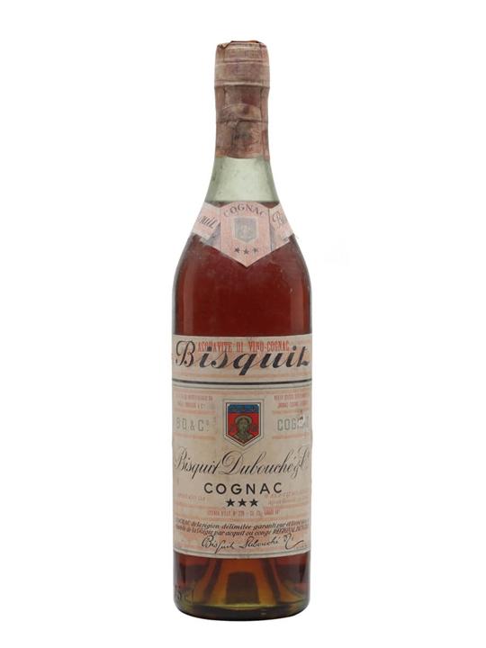 Bisquit Dubouche 3 Stars Cognac / Bot.1960s
