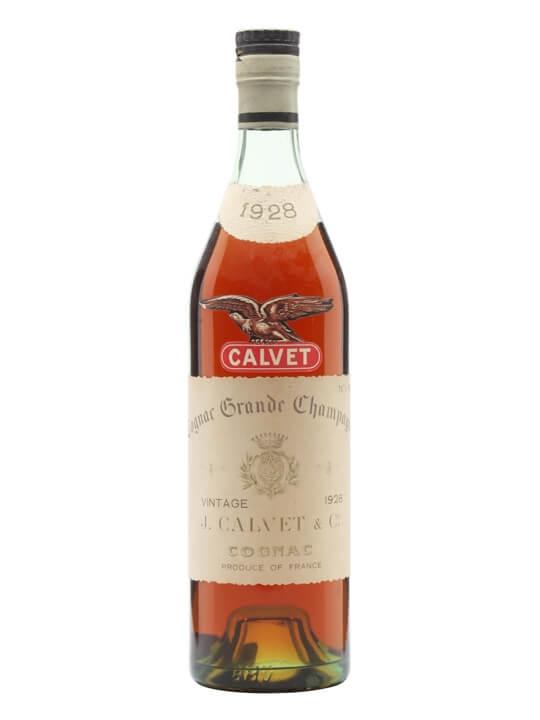 Calvet 1928 Cognac / Grande Champagne / Bot.1960s
