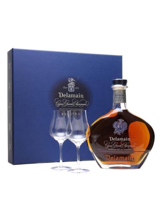 Delamain Extra Cognac / 2 Glasses Gift Pack