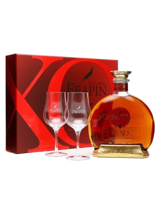 Frapin VIP XO Cognac + 2 Glasses Gift Pack