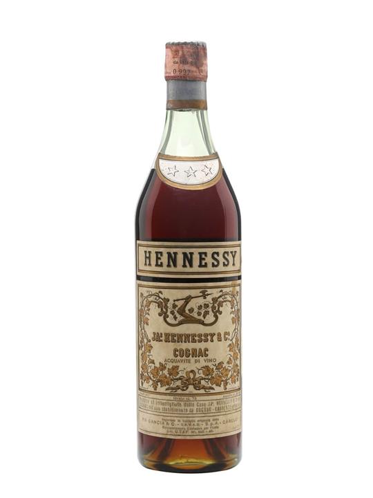 Hennessy 3 Stars Cognac / Bot.1950s