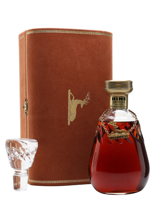 Hine VSOP Cognac / Crystal Decanter / Bot.1980s