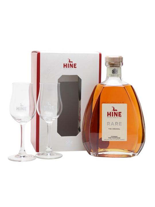 Hine Rare VSOP Cognac + 2 Glasses Pack