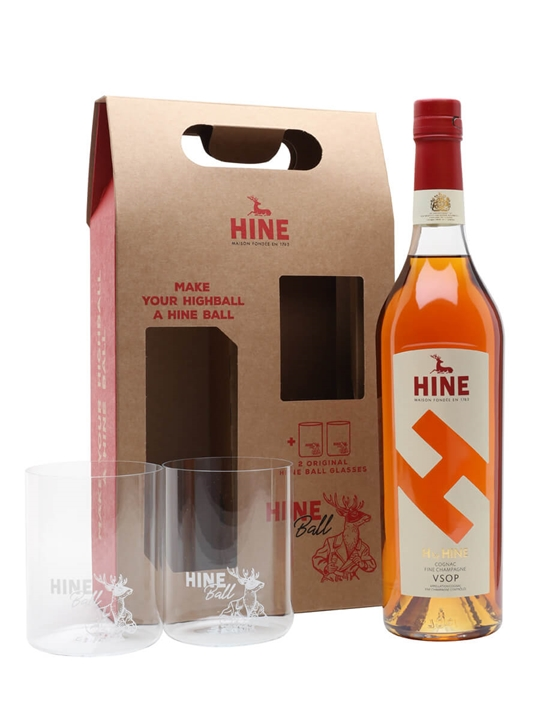 H by Hine VSOP Cognac / 2 Glass Gift Pack