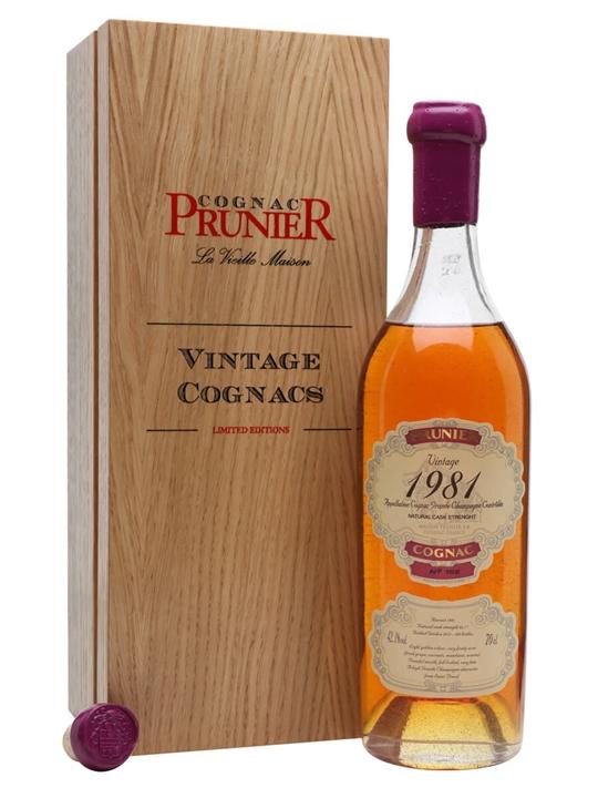 Prunier Grand Champagne 1981 Cognac