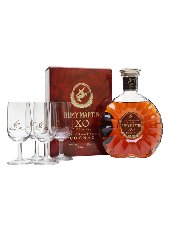 Remy Martin Xo / 4 Glass Pack / Bot.1980s