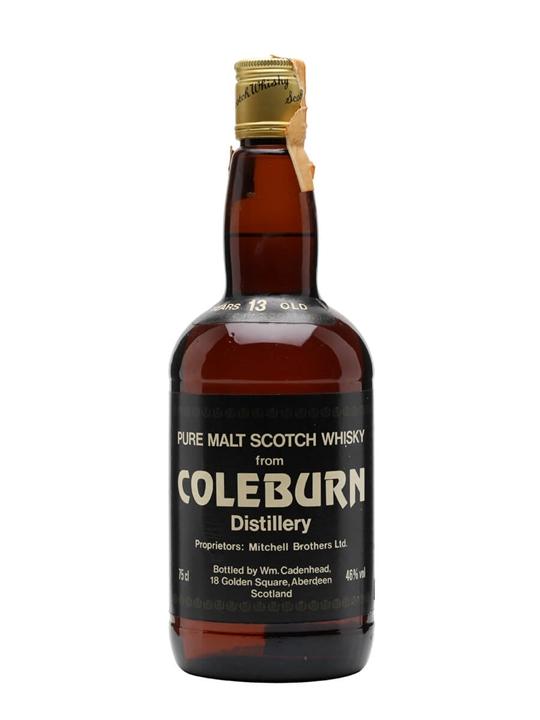 Coleburn 13 Year Old / Cadenhead's Speyside Single Malt Scotch Whisky