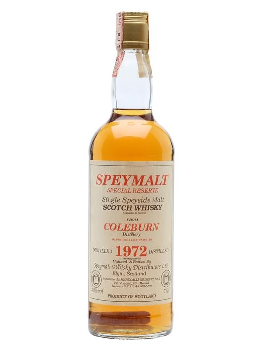 Coleburn 1972 / Bot.1980s / Special Reserve / Speymalt Speyside Whisky
