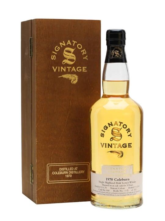 Coleburn 1970 / 30 Year Old / Signatory Speyside Whisky