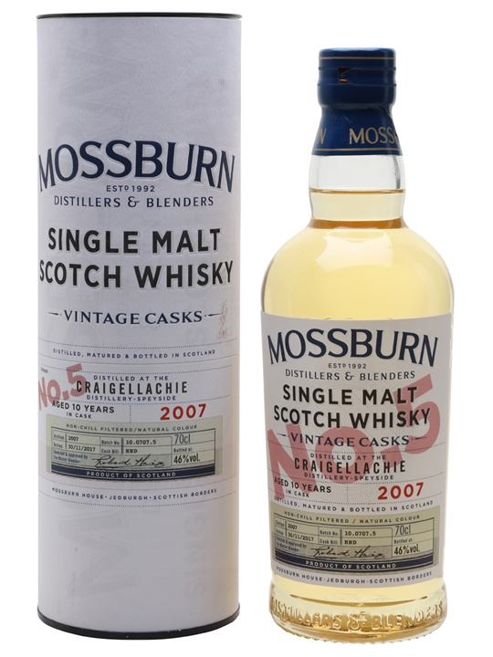 Craigellachie 2007 / 10 Year Old / Vintage Casks #5/Mossburn Speyside Whisky