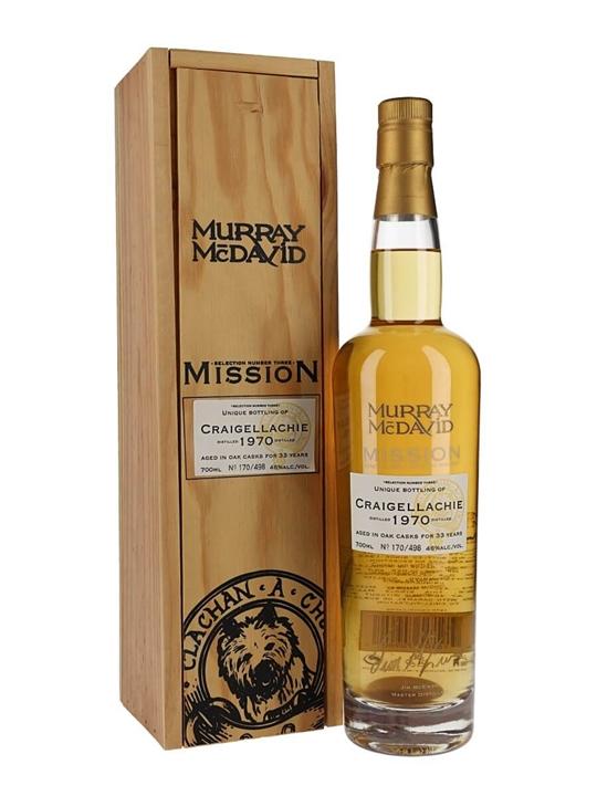 Craigellachie 1970 / 33 Year Old Speyside Single Malt Scotch Whisky