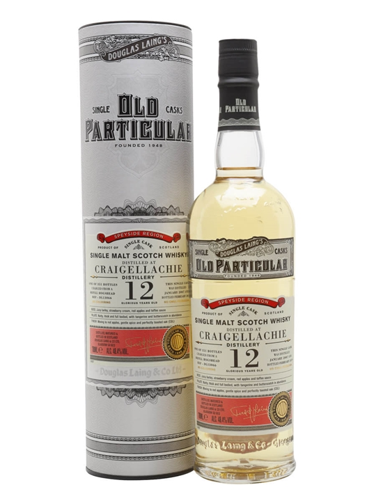 Craigellachie 2007 / 12 Year Old / Old Particular Speyside Whisky