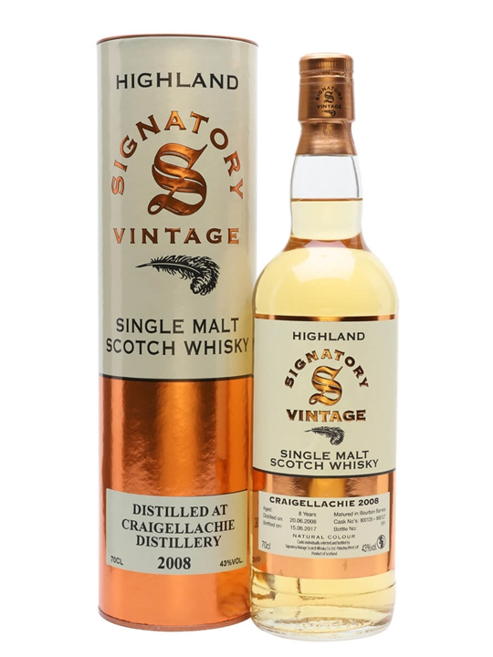 Craigellachie 2008 / 8 Year Old / 43% / 70cl / Signatory Speyside Whisky
