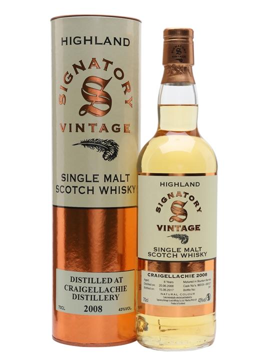 Craigellachie 2008 / 8 Year Old / Signatory Speyside Whisky