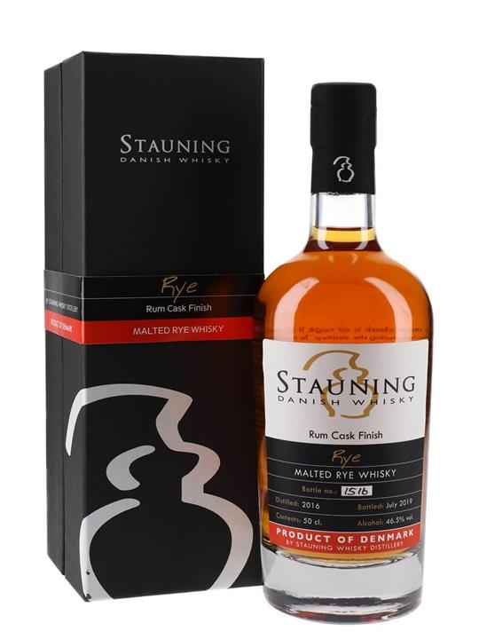 Stauning Rye / Rum Cask Finish Danish Malted Rye Whisky