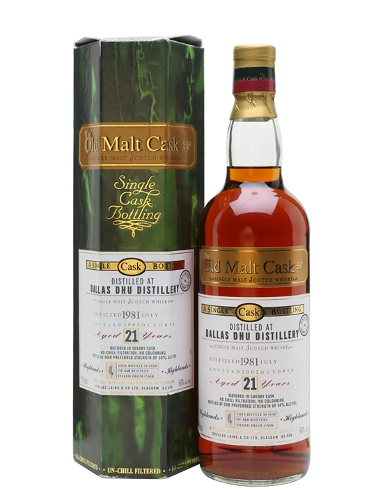 Dallas Dhu 1981 / 21 Year Old / Sherry Cask / Old Malt Cask Speyside Whisky