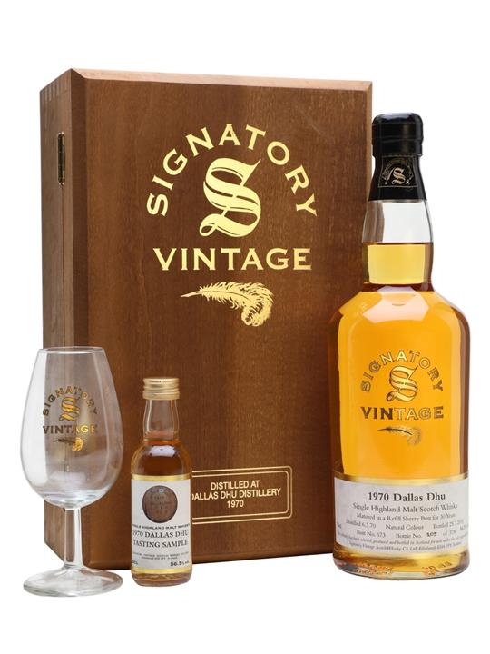 Dallas Dhu 1970 / 30 Year Old / Glass + Mini Set Speyside Whisky