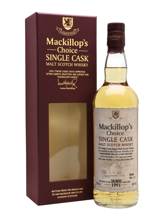 Dalmore 1991 / Bot.2009 / MacKillops Choice Highland Whisky