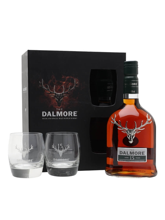 Dalmore 15 Year Old Glass Pack Highland Single Malt Scotch Whisky 70cl Highland Whisky