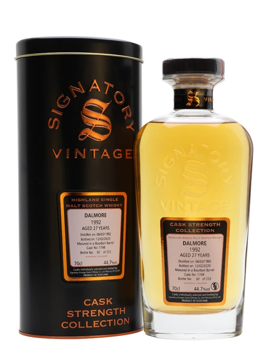 Dalmore 1992 / 27 Year Old / Signatory Highland Whisky