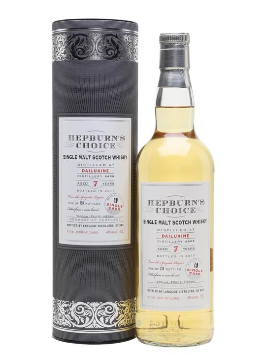 Dailuaine 2009 / 7 Year Old / Rum Finish / Hepburns Choice Speyside Whisky