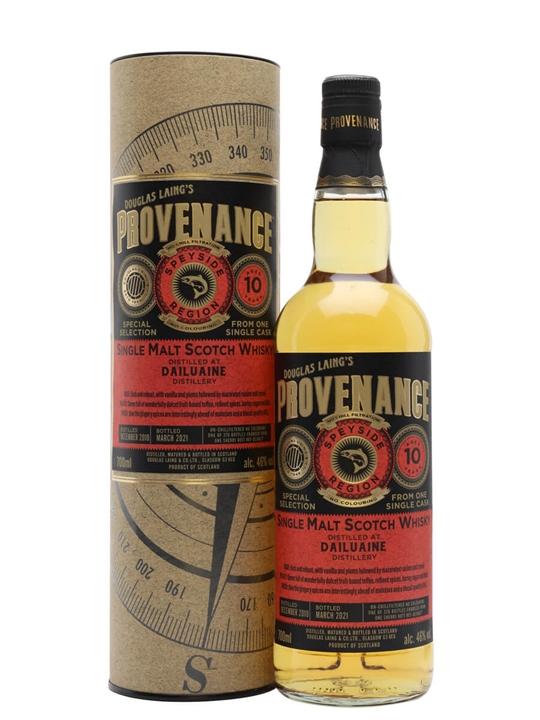 Dailuaine 2010 / 10 Year Old /  Provenance Speyside Whisky