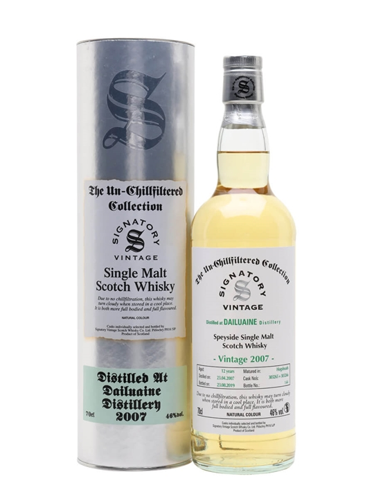 Dailuaine 2007 / 12 Year Old / Signatory Speyside Whisky