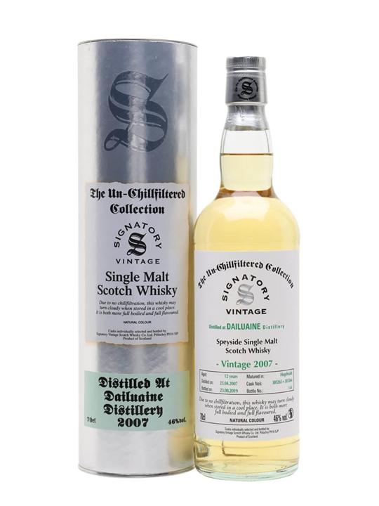 Dailuaine 2007 / 12 Year Old / Signatory Speyside Whisky
