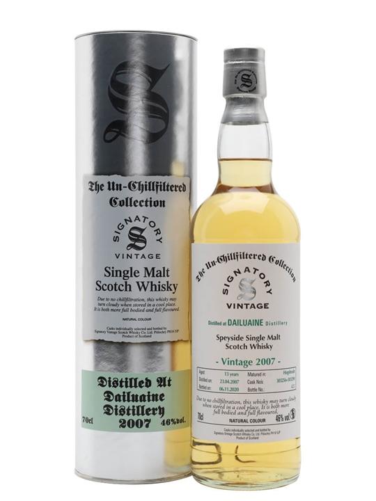 Dailuaine 2007 / 13 Year Old / Signatory Speyside Whisky