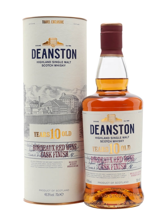Deanston 10 Year Old / Bordeaux Red Wine Finish Highland Whisky