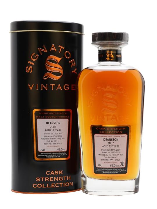 Deanston 2007 / 13 Year Old / Signatory Highland Whisky