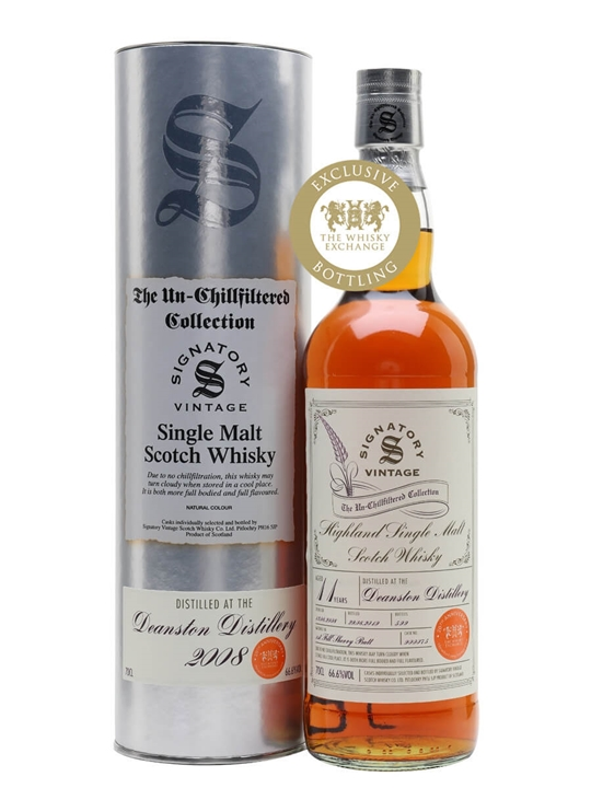 Deanston 2008 / 11 Year Old / Sherry Cask / Signatory for TWE Highland Whisky