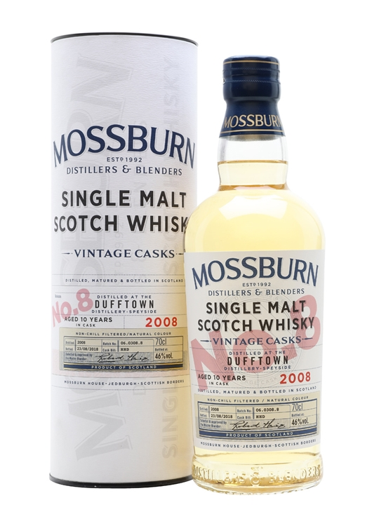 Dufftown 2008 / 10 Year Old / Vintage Casks #8 / Mossburn Speyside Whisky