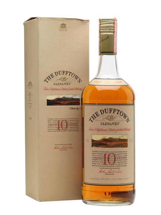 Dufftown-Glenlivet 10 Year Old / Bot.1990s / Litre Speyside Whisky