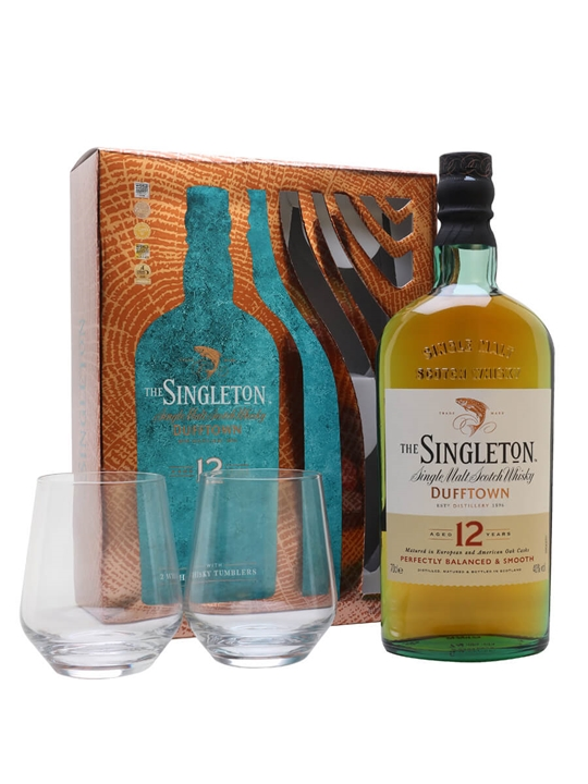 Singleton Of Dufftown 12 Year Old / 2 Glass Set Speyside Whisky