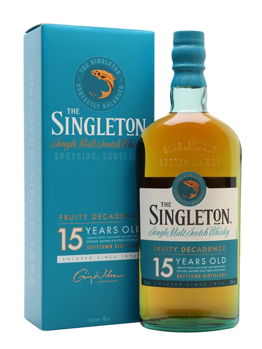 Singleton of Dufftown 15 Year Old Speyside Single Malt Scotch Whisky