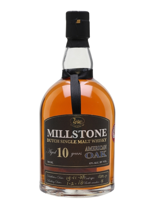 Zuidam Millstone 2007 / 10 Year Old / American Oak Dutch Whisky