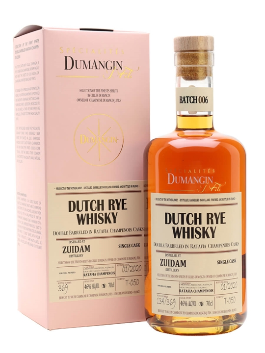Zuidam Dutch Rye Whisky / Ratafia Finish / Dumangin Batch 006 Dutch Whisky