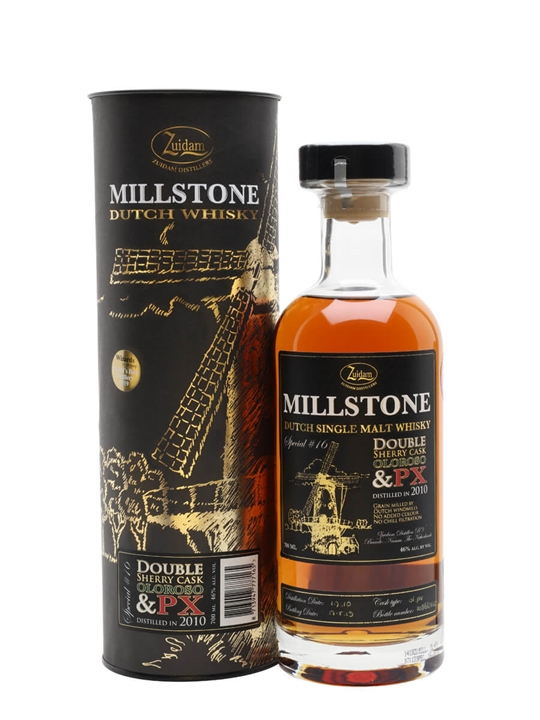 Zuidam Millstone 2010 / Special no16 Double Sherry / 8 Year Old Dutch Whisky