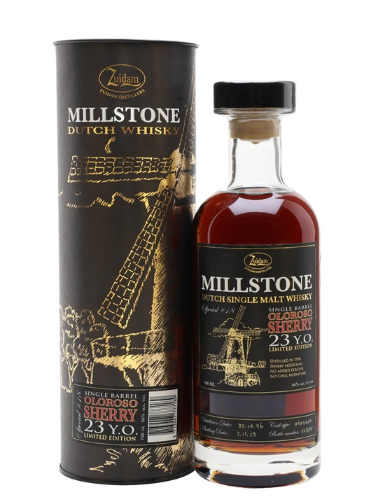 Zuidam Millstone 1996 /  23 Year Old / Oloroso Cask #18 Dutch Whisky